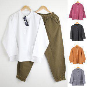 봄 가을용 20수 자수 남자 개량한복 공용 생활한복