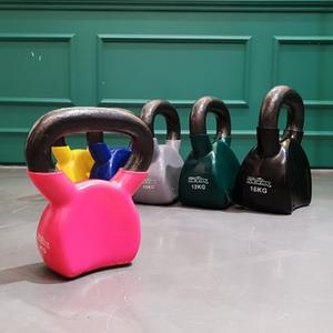 프로모릭스 압축형 컬러코팅 케틀벨 4kg 6kg 8kg 10kg 12kg 16kg 근력운동 웨이트용품 홈트레이닝 유산소운동