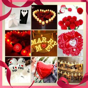 +예쁨주의 지호+ 프로포즈 LED 조명램프 /하트풍선/하트촛불/하트초/LED티라이트/LED촛불/다이아몬드반지/장미꽃잎/부케