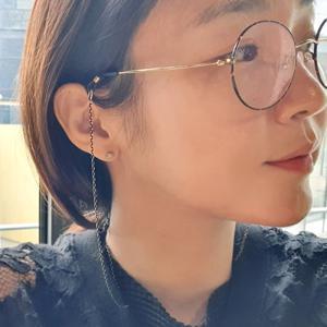 [바이진주리본] 심플 블랙 체인 안경줄 선글라스 스트랩
