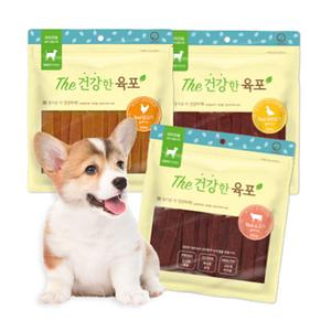 부드럽고 맛있는  더 건강한육포 강아지간식 5종 모음