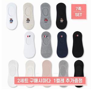 [2세트당1켤레추가증정]실속형_여자미국곰덧신 양말 (7족) 외3종