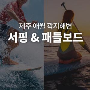 [애월] 겨울에도 따뜻한 제주 곽지해변에서 즐기는 서핑 & 패들보드 - 패들보드 강습