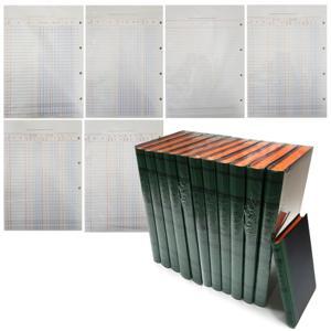 동신장부 장부속지 장부내지 모음/녹색장부 사무 회계 금전출납부