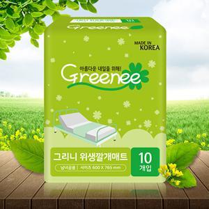 그리니 위생깔개매트 100매 / 국내생산 / 성인용기저귀 / 환자용패드
