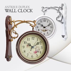 엔틱 클래식 럭셔리 유럽풍 양면시계 인테리어 벽시계 무소음