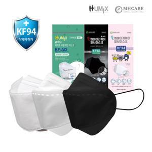 끈조절 엠에이치케어 KF94 소형 대형 / 숨쉬기 편한 KF-AD / KF80 100매 / 어린이 아동 마스크