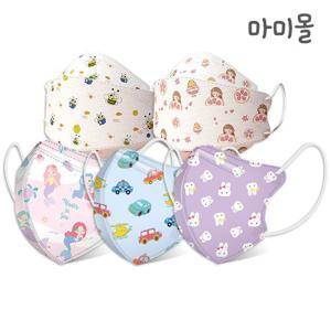 마미몰  마미몰 프리미엄 새부리형 유아 아동 마스크 30+1매 50+1매 초소형 소형 어린이 아기