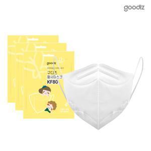 구디즈 KF80 아동마스크 100매(소형) 새부리형/식약처허가/국산