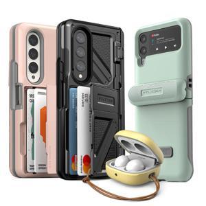 베루스 갤럭시 Z 폴드3 플립3 버즈2 프로 라이브 폴드2 플립 케이스 거치대 일체형 하드 범퍼