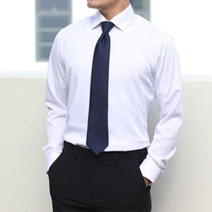 [어셔츠]구김없는 고스판 남자 긴팔 와이셔츠(화이트/블랙/블루)