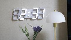인테리어벽시계 추천, 플라이토 3D LED 벽시계 시즌2 화이트 무소음 벽시계 설치후기