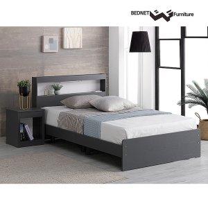 모노 LED 침대프레임/슈퍼싱글침대/퀸침대/매트리스